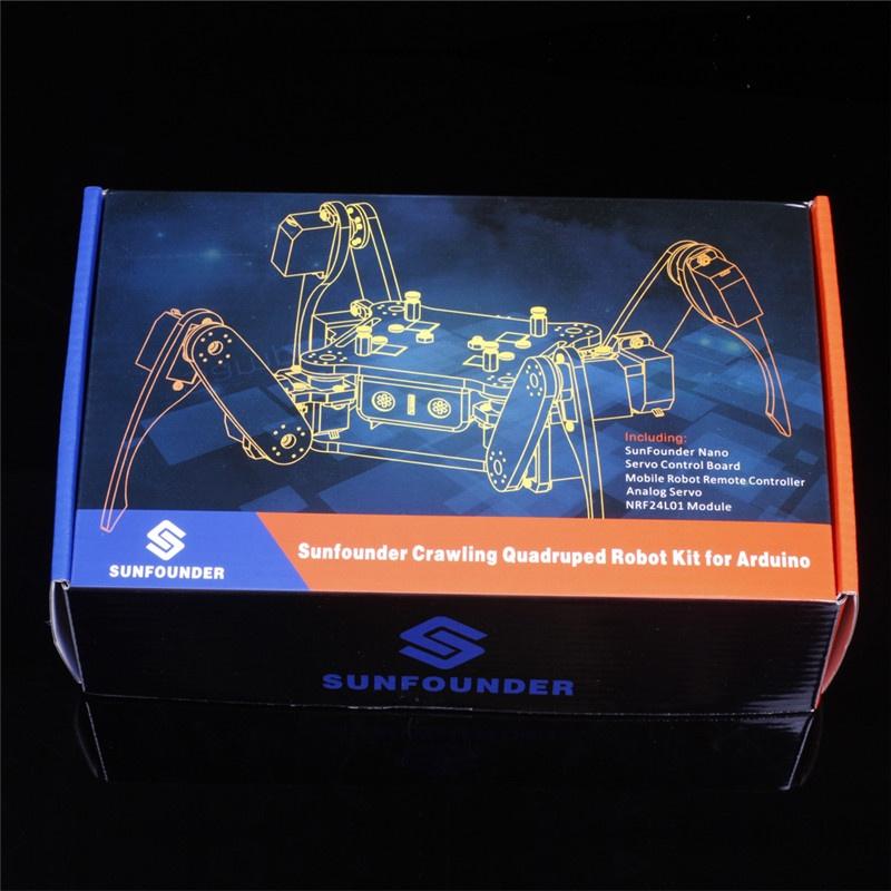 Crawling Robot умный робот паук с ардуино нано