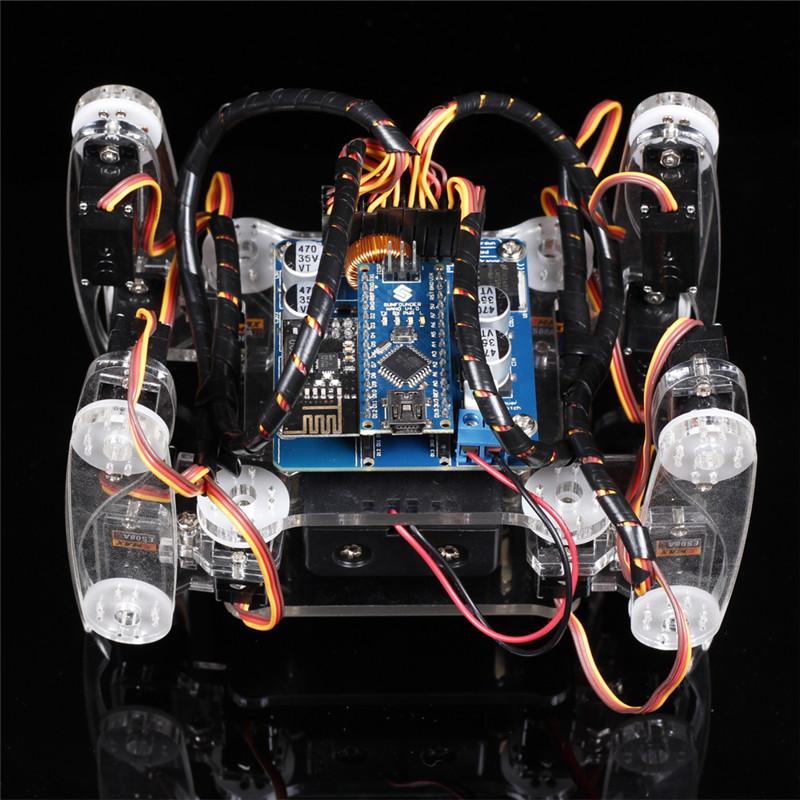 Технические характеристики умного робота паук с ардуино нано