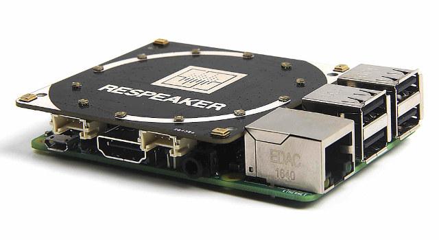 4 аналоговых микрофона плата расширения AC108 raspberry pi 3
