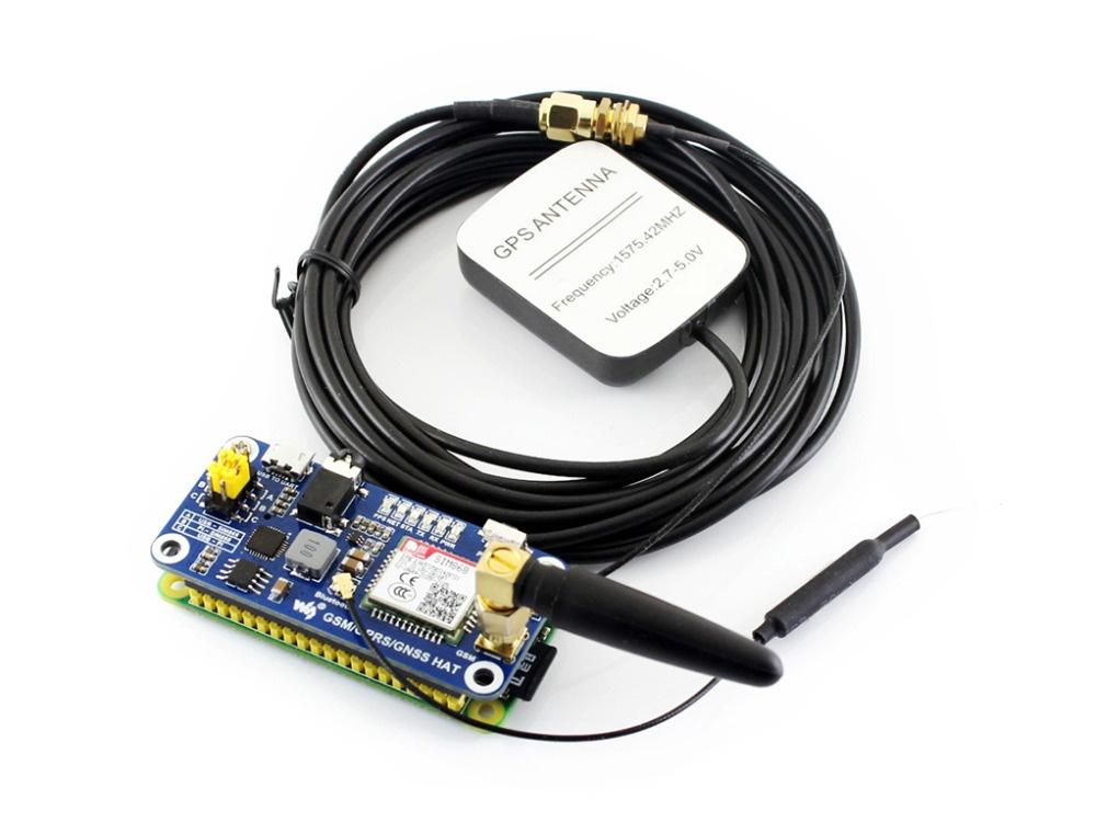 Плата GSM/GPRS/GNSS/Bluetooth 3.0 для Raspberry Pi 2b/3b/zero w