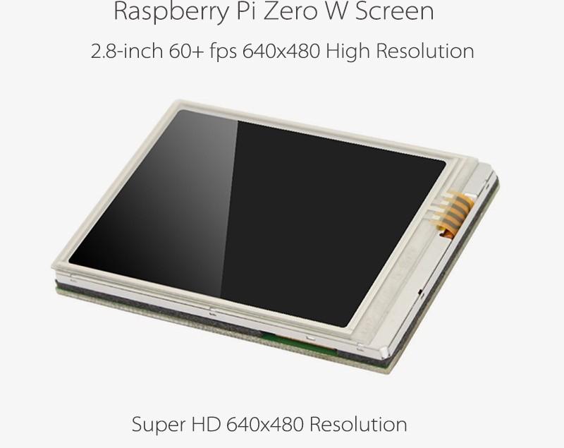 Самый быстрый 2.8 дюймовый тачскрин для Raspberry Pi zero/w, супер HD Разрешение 640x480, 60 + кадров в секунду