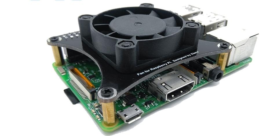 Бесшумный вентилятор для raspberry pi с контроллером оборотов