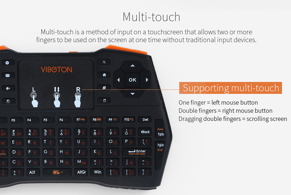 Описание i8 беспроводной мини клавиатуры с тачпадом