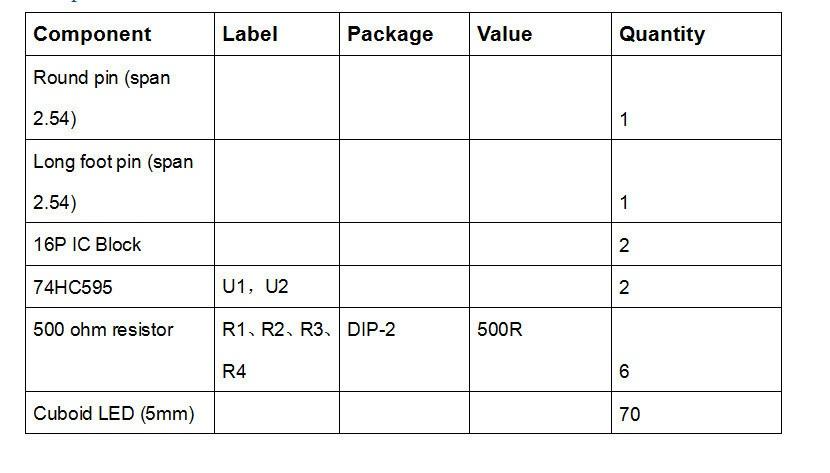 Списоккомпонентовкомплекта для сборки светового куба 4x4x4 синий на ардуино