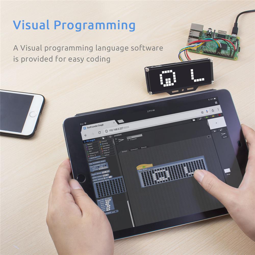 визуальное программированиесветодиодного матричного модуля для Arduino и Raspberry Pi