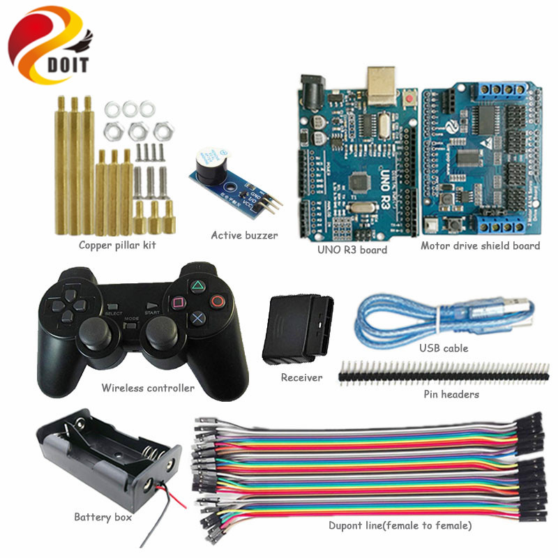 В зависимости от выбора комплект поставки PS2 джойстик управление шасси танка с Arduino для DIY