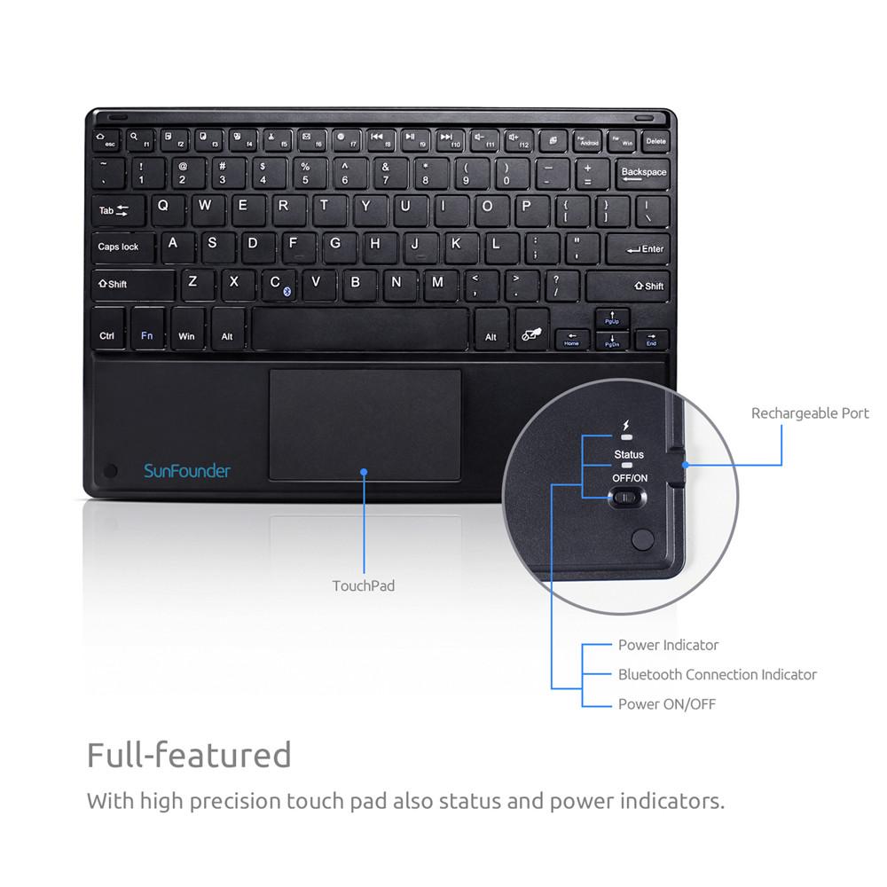 Купить10 дюймовую беспроводную Bluetooth клавиатуру для Raspberry Pi с тачпадом