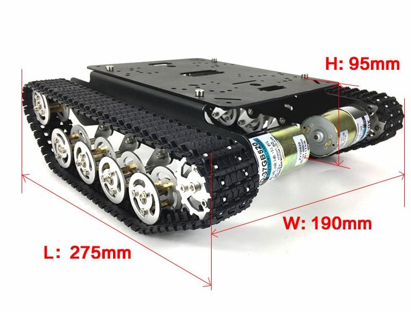 Параметрыинтеллектуальный гусеничная шасси/танк с Arduino для DIY TS100