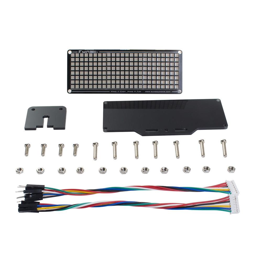Комплект поставкисветодиодного матричного модуля для Arduino и Raspberry Pi