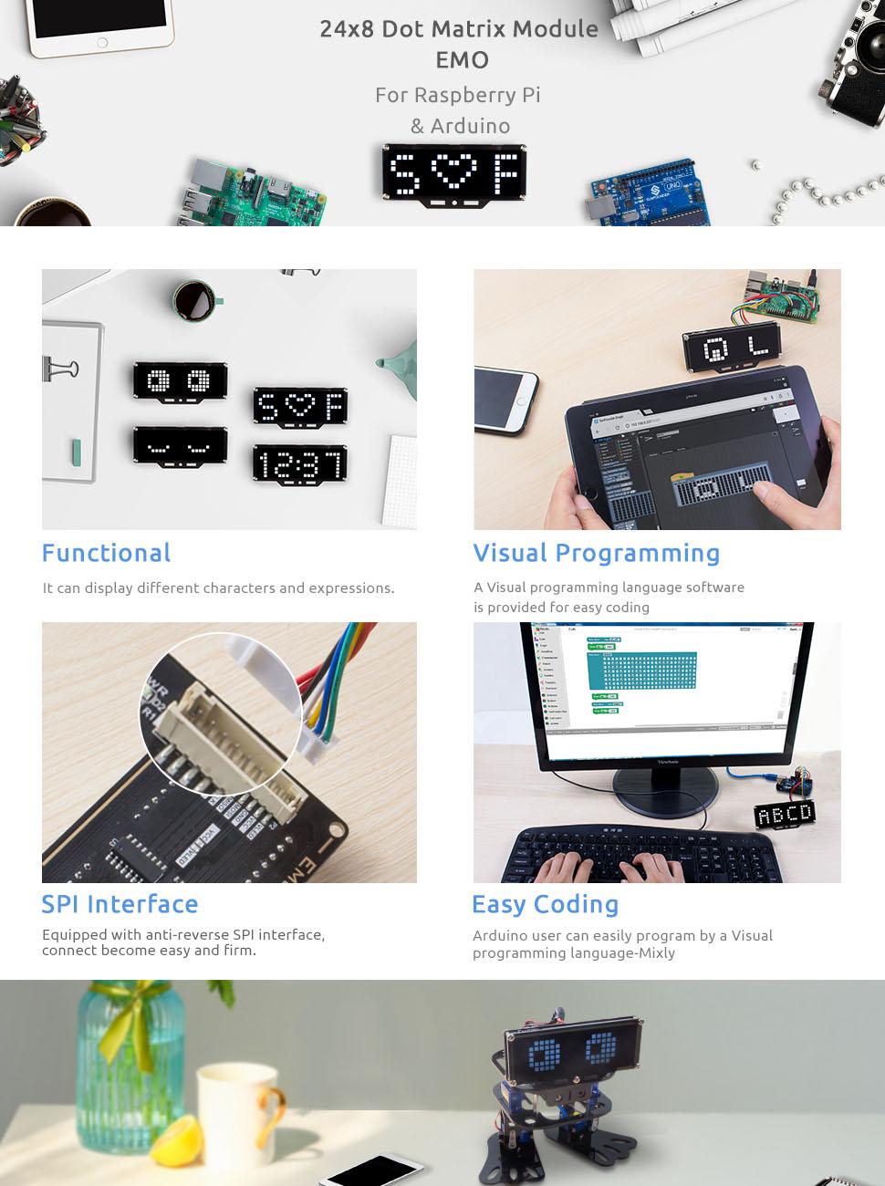 Особенностисветодиодного матричного модуля для Arduino и Raspberry Pi