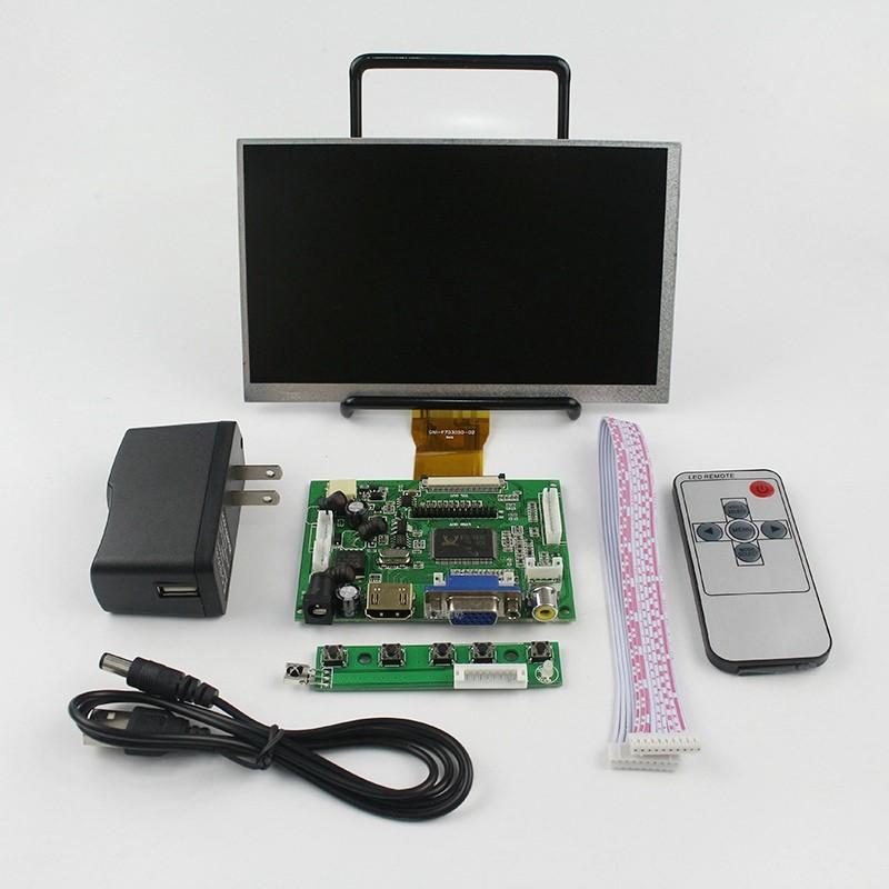 ЖК дисплей 7 дюймовый экран с пультом дистанционного управления также для Raspberry Pi 3 и orange Pi (banan pi)