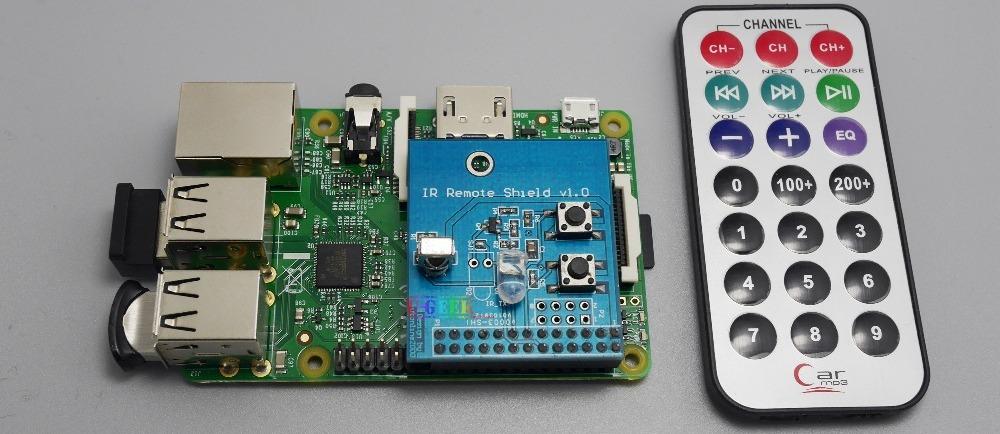 Комплект поставки платы расширения и ИК пульт для Raspberry Pi