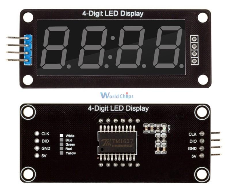 Описаниесветодиодного дисплея TM1637 для Arduino