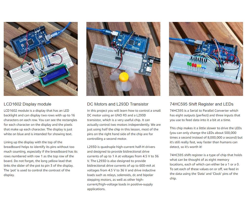 В комплект входит диск и книга с уроками, которая упростит изучение Arduino UNo Nano