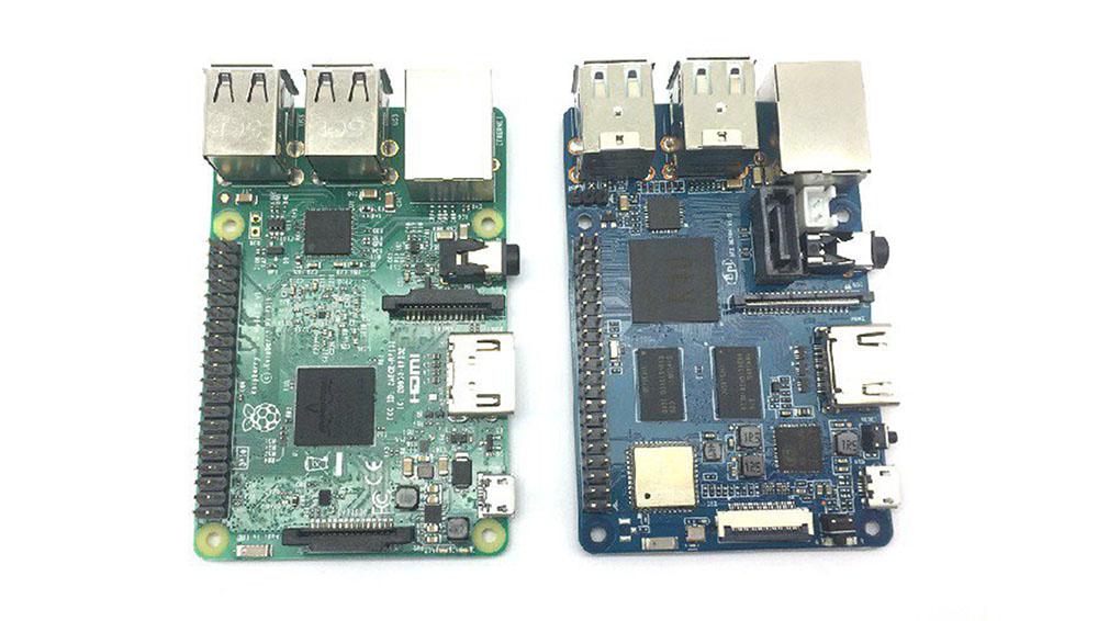 Banana PI таким же размером, как Raspberry Pi 3, поэтому можно использовать корпуса от Raspberry Pi