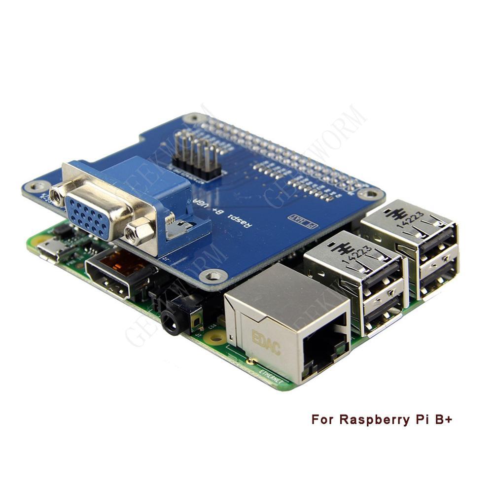 Особенностиплаты расширения VGA интерфейс для Raspberry Pi