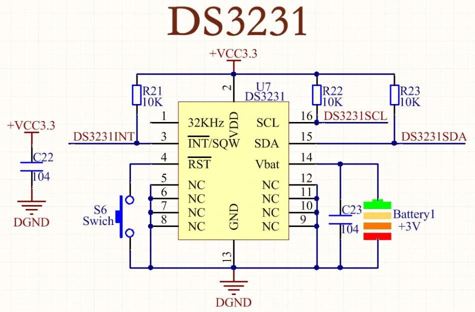 Комплект поставкиDS3231 модуля часов реального времени для Arduino