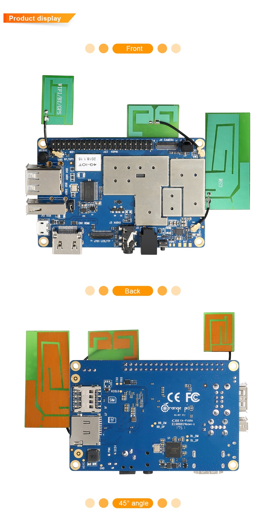 микрокомпьютер Orange Pi 4G-IOT