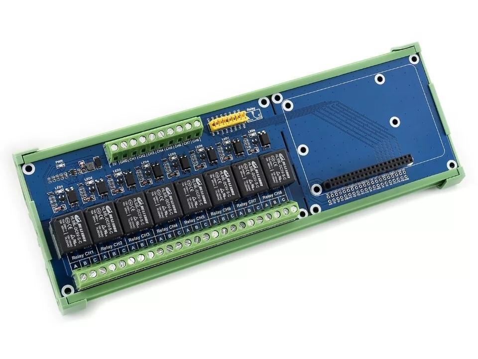 Особенности платы расширения 8 канальный реле для Raspberry PI