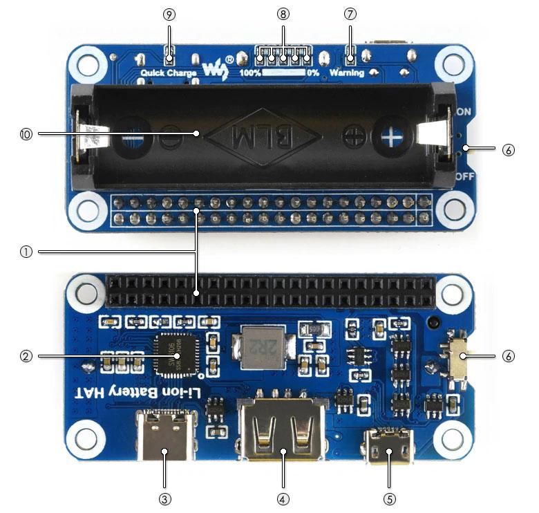 Описаниелитий-ионного аккумулятора для Raspberry Pi
