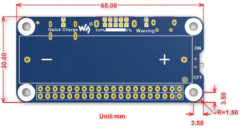 Размерылитий-ионного аккумулятора для Raspberry Pi