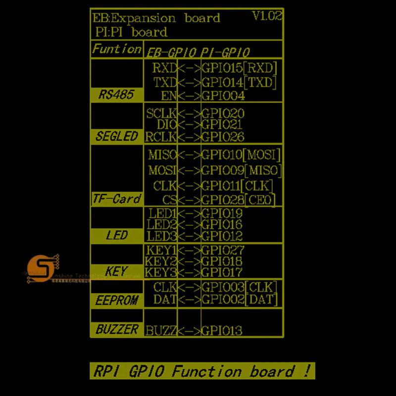 Плата расширения GPIO коды RS485 RS232 для raspberry pi