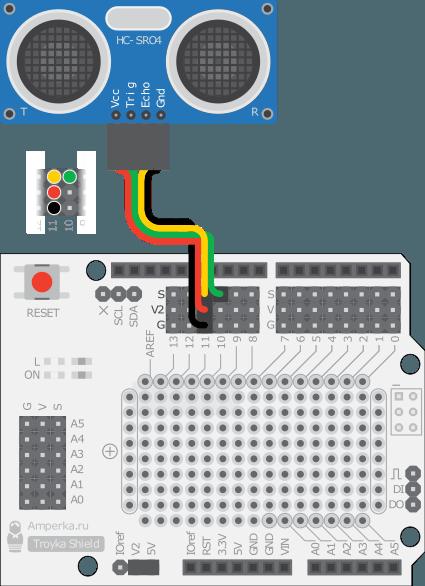 Модуль HC-SR04 ультразвуковой дальномер для arduino