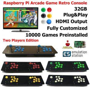 Аркадная ретро консоль для двух игроков на raspberry pi