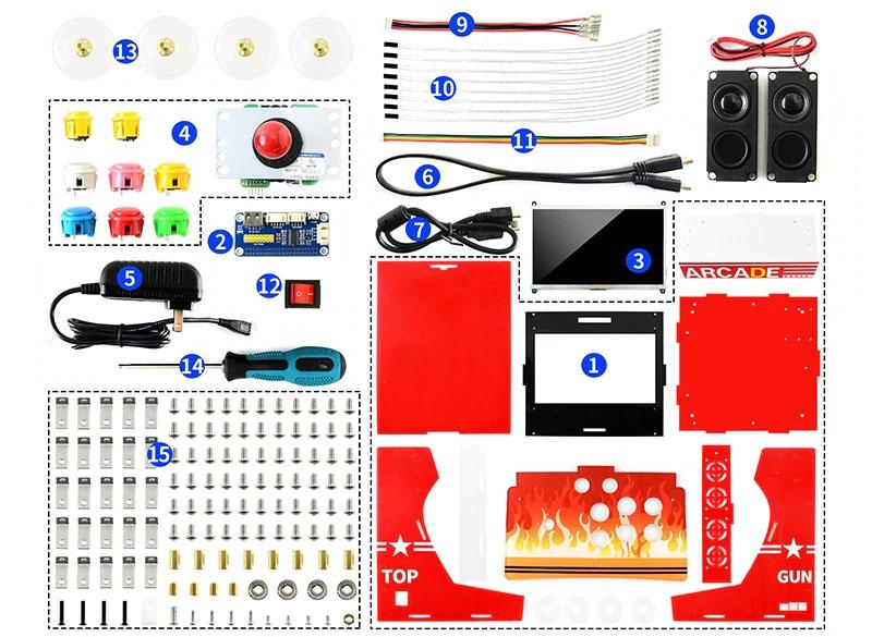 Комплектацияаркадного аппарата или бартопа на raspberry pi