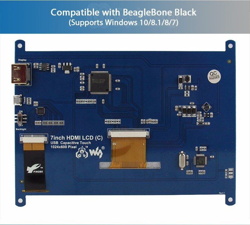 Купитьсенсорный экран 7 дюймов 1024x600 HDMI TFT
