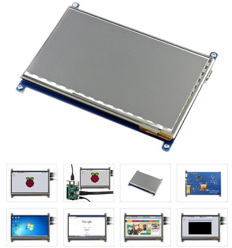 Основные параметрысенсорного экрана 7 дюймов 1024x600 HDMI TFT