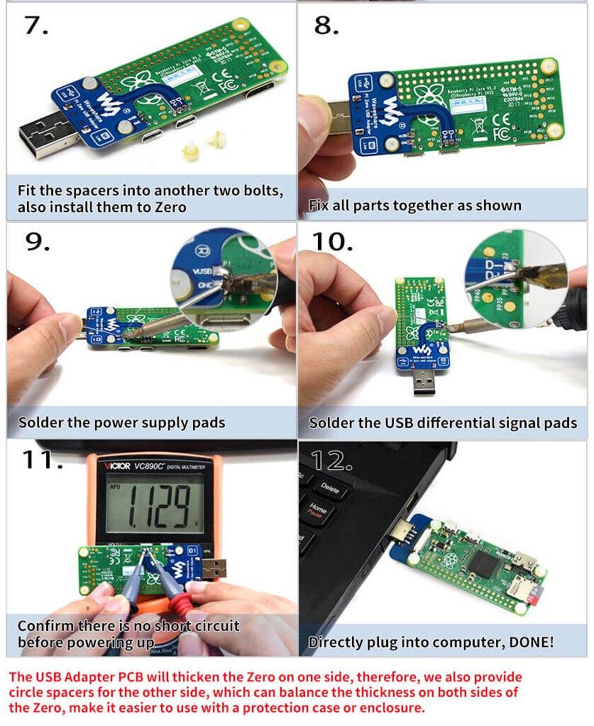 Инструкция по сборкеUSB адаптер разъем для Raspberry Pi Zero/Zero W/Zero WH часть 2
