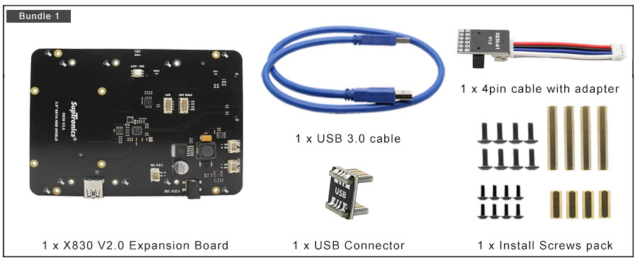 Комплект 1 X830 плата расширения 3.5 HDD SATA для raspberry pi