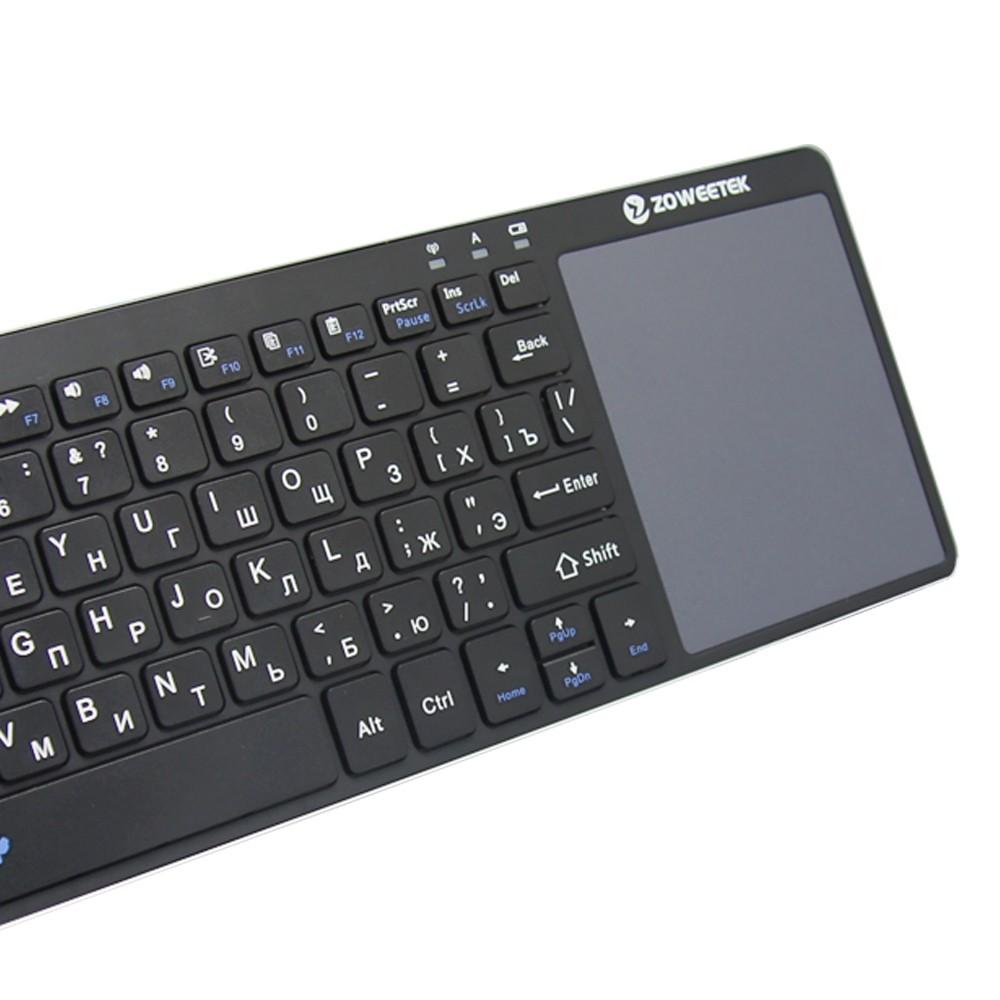 Параметры Zoweetek K12-1 беспроводной русской клавиатуры с сенсорной панелью