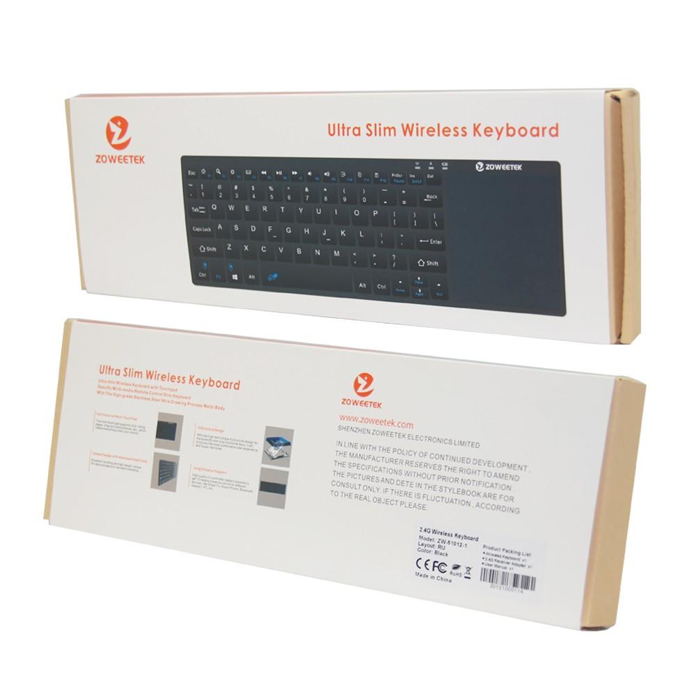 Купить Zoweetek K12-1 беспроводную русскую клавиатуру с сенсорной панелью