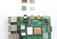 Комплект из 4 х радиаторов для Raspberry Pi 4
