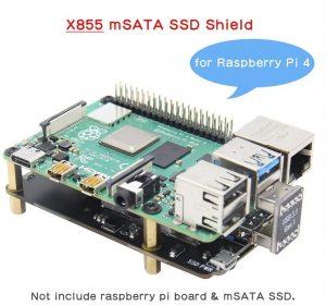 Плата расширения X855 V1.3 mSATA SSD для Raspberry Pi 4B