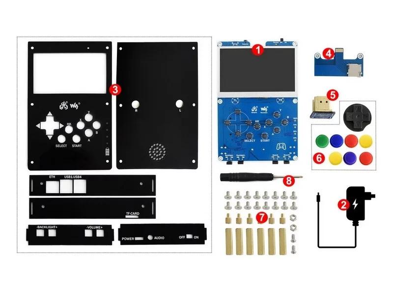 Комплект поставкиGamePi43 ретро консоли на raspberry pi