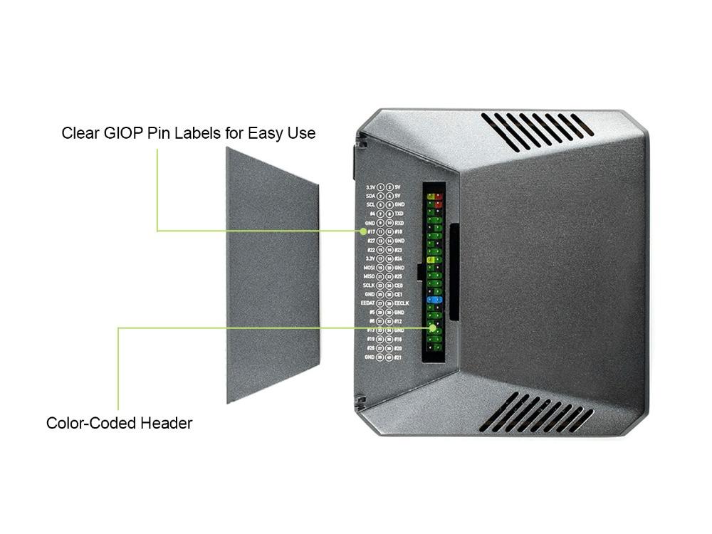 Argon ONE алюминиевый корпус для Raspberry Pi 4 с маркировкой и доступом к GPIO