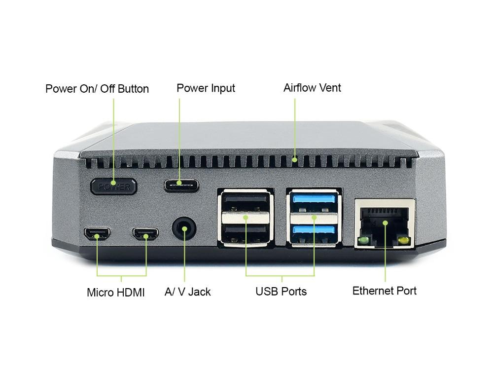 Argon ONE алюминиевый корпус для Raspberry Pi 4 с кнопкой выключения и всеми портами