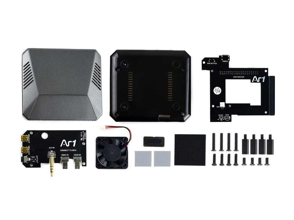 Комплект поставки Argon ONE алюминиевый корпус для Raspberry Pi 4