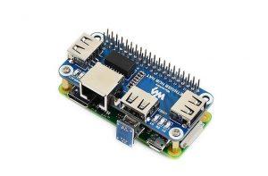 Плата расширения Ethernet RJ45 и USB для Raspberry Zero W