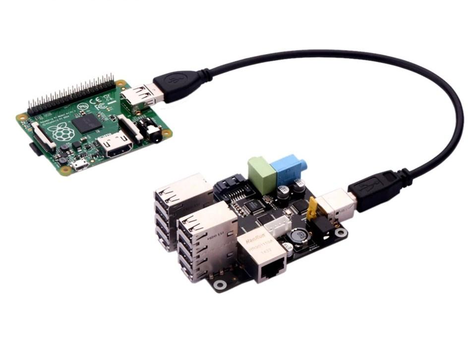 Комплект поставки многофункциональной платы расширения X505 для Raspberry Pi Модель A