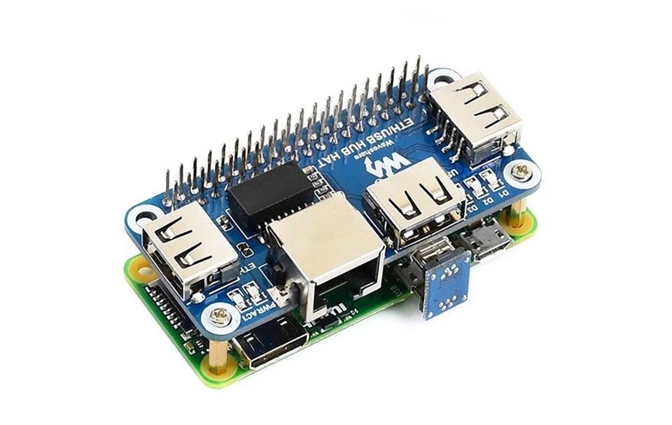 Описание платы расширения Ethernet RJ45 и USB для Raspberry Zero W