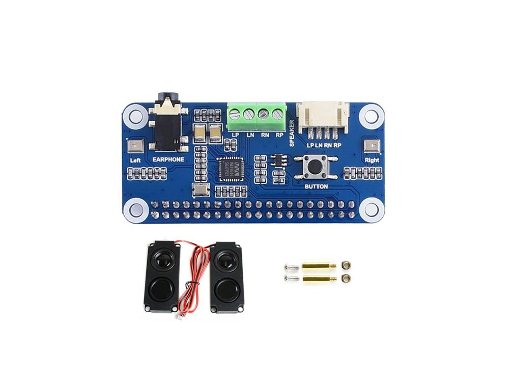 Комплект поставки звуковой платы WM8960 hi-fi для Raspberry Pi и Zero
