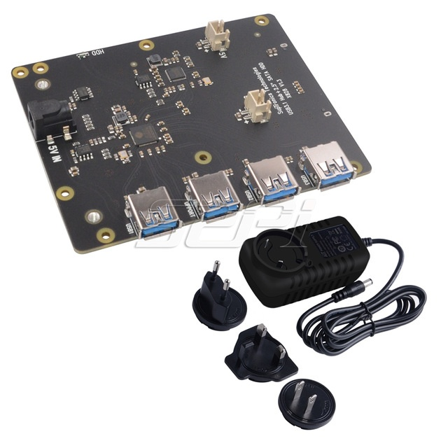 Комплект поставки платы расширения X828 для создания NAS на Raspberry Pi