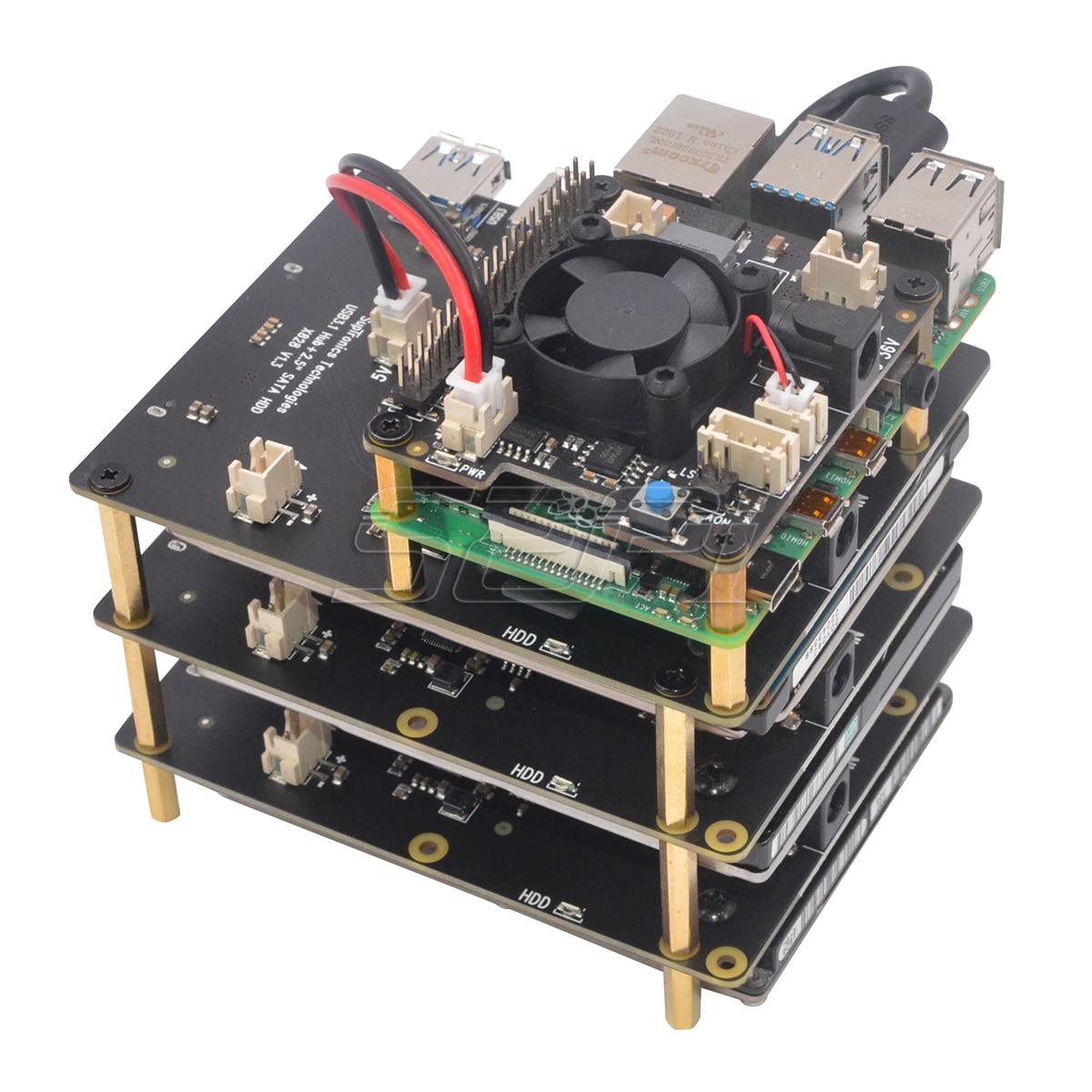 Купить плату расширения X828 для создания NAS на Raspberry Pi