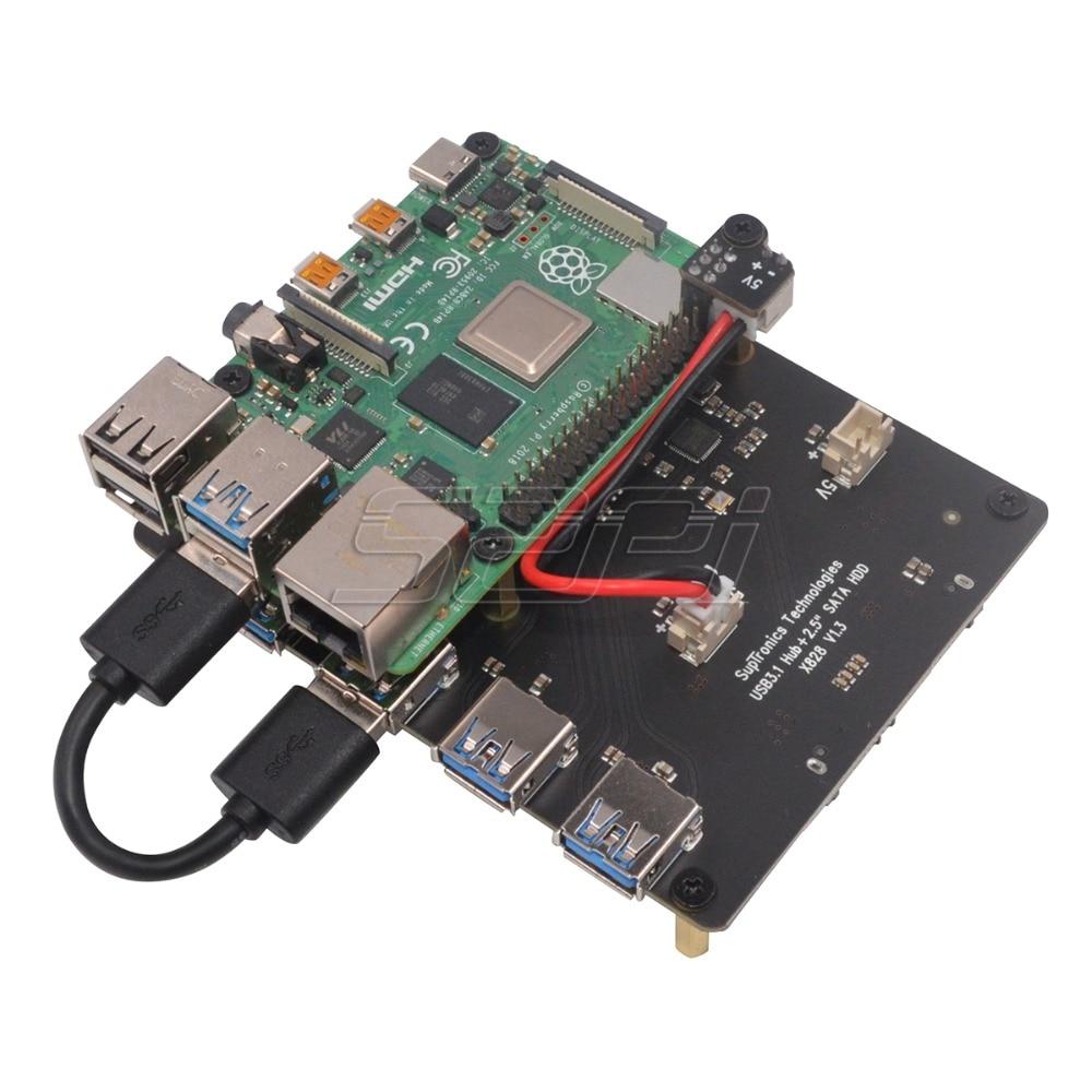 Параметры платы расширения X828 для создания NAS на Raspberry Pi