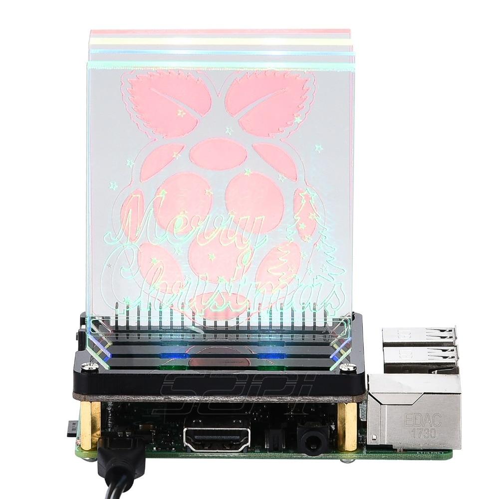 Купить плату управления 8 светодиодами WS2812B для Raspberry Pi