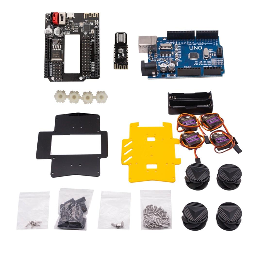 Комплект поставки набора с колесами Mecanum для Arduino UNO Set D